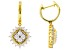 Pre-Owned Moissanite 14k Yellow Gold Over Silver Earrings 1.76ctw D.E.W