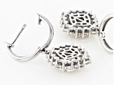 Pre-Owned Moissanite Platineve Earrings 1.76ctw D.E.W