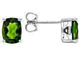 Pre-Owned Green Chrome Diopside Sterling Silver Stud Earrings 2.92ctw