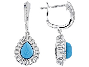 Pre-Owned Blue turquoise silver earrings