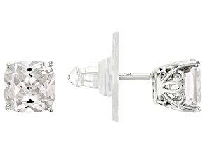 Pre-Owned White Cubic Zirconia Platineve Stud Earrings 5.16ctw