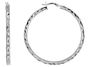 Pre-Owned Sterling Silver Tube Hoop Earrings