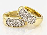 Pre-Owned White Diamond 14k Yellow Gold Over Sterling Silver Earrings ..45ctw