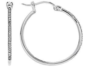 Pre-Owned White Diamond 10k White Gold Earrings 0.10ctw