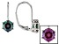 Pre-Owned Blue Lab Created Alexandrite Sterling Silver Drop Earrings 1.68ctw