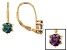 Pre-Owned Color Change Lab Alexandrite 18k Gold Over Silver Earrings 1.68ctw