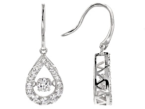 Pre-Owned White Cubic Zirconia Sterling Silver Earrings 2.55ctw