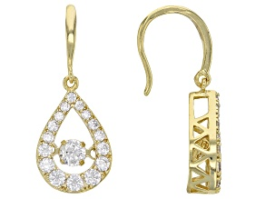 Pre-Owned White Cubic Zirconia 18k Yellow Gold Over Sterling Silver Earrings 2.55ctw