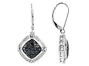 Pre-Owned Blue Velvet Diamond™ Rhodium over Sterling Silver Earrings .10ctw