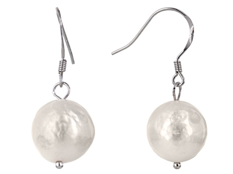Pre-Owned Cultured Freshwater Pearl With Diamond Simulant Rhodium Over Silver Jewelry Set