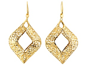 Pre-Owned 18k Yellow Gold Over Bronze Dangle Earrings