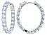 Pre-Owned Blue Topaz Sterling Silver Hoop Earrings 10.20ctw