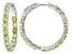 Pre-Owned Green Peridot Sterling Silver Hoop Earrings 8.84ctw