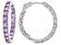 Pre-Owned Lavender Amethyst Sterling Silver Hoop Earrings 6.80ctw