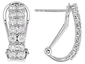 Pre-Owned Moissanite Platineve™ Earrings 1.68ctw DEW