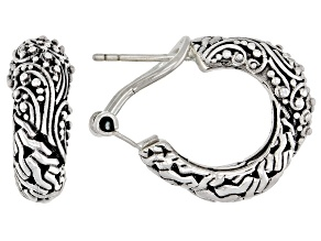 Pre-Owned Sterling Silver Hoop Earrings