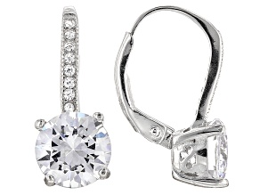 Pre-Owned Cubic Zirconia Rhodium Over Silver Earrings 5.80ctw