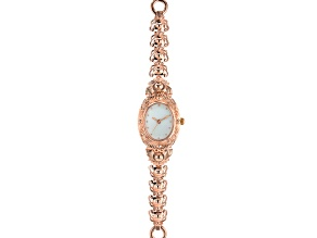 Pre-Owned Copper Mother Of Pearl Dial Ladies Watch