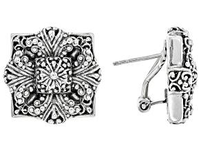 Pre-Owned Sterling Silver Floral Earrings