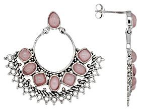 Pre-Owned Pink Opal Sterling Silver Earrings