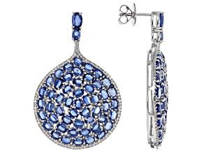 Pre-Owned Blue Kyanite Sterling Silver Earrings 28.65ctw