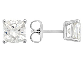 Pre-Owned Moissanite 14k White Gold Stud Earrings 2.20ctw D.E.W.
