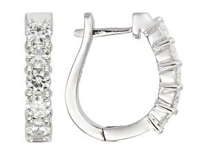 Pre-Owned Moissanite Earrings Platineve 1.30ctw DEW.