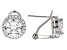 Pre-Owned White Cubic Zirconia Rhodium Over Silver Earrings 7.40ctw
