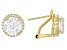 Pre-Owned White Cubic Zirconia 18k Yellow Gold Over Silver Earrings 7.40ctw
