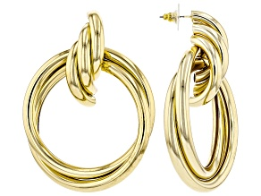 Pre-Owned Gold Tone Hoop Earrings