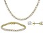 Pre-Owned Cubic Zirconia 14k Yellow Gold Over Silver Necklace, Bracelet And Earrings Set 64.35ctw