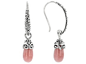 Pre-Owned Pink Guava Quartz Sterling Silver Earrings