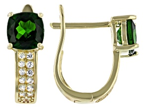 Pre-Owned Chrome Diopside 18K Gold Over Sterling Silver Earrings 2.3ctw