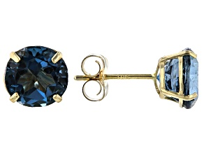 Pre-Owned London Blue Topaz 10k Yellow Gold Earrings 2.00ctw