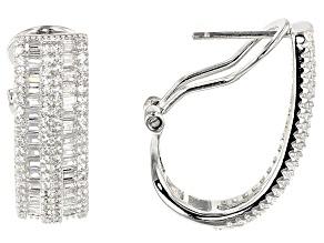 Pre-Owned Cubic Zirconia Sterling Silver Earrings 3.86ctw