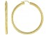 Pre-Owned 18k yellow gold over sterling silver diamond cut round hoop earring.