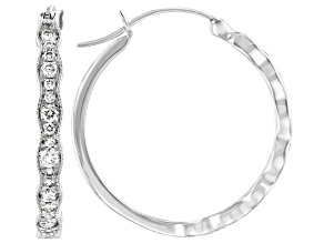 Pre-Owned White Diamond 10K White Gold Earrings 0.48ctw