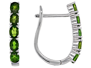 Pre-Owned Chrome Diopside Rhodium Over Sterling Silver Earrings 2.00ctw