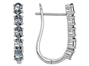 Pre-Owned Gray Spinel Sterling Silver Hoop Earrings 1.53ctw