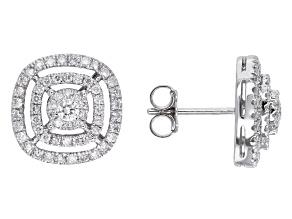 Pre-Owned Diamond 14k White Gold Earrings 1.00ctw