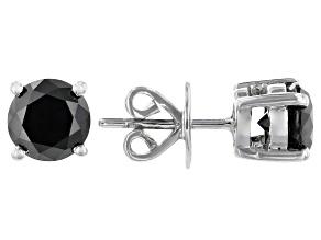 Pre-Owned Black Diamond Rhodium Over Sterling Silver Stud Earrings 2.00ctw