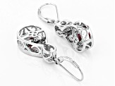 Pre-Owned Red Dancing Lab Created Bixbite Sterling Silver Earrings 1.03ctw