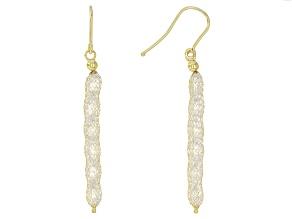Pre-Owned Splendido Oro™ White Diamond Simulant 14K Yellow Gold Crochet Earrings