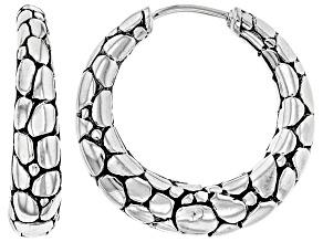 """Pre-Owned Sterling Silver """"Intertwine""""  Hoop Earrings"""