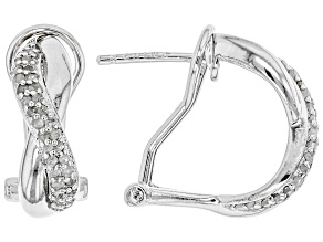 Pre-Owned White Diamond Rhodium over Sterling Silver Earrings .50ctw