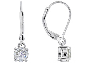 Pre-Owned Moissanite Platineve Earrings 1.00ctw D.E.W