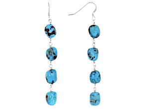 Pre-Owned Southwest Style By JTV™ Turquoise Silver Earrings