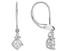 Pre-Owned Moissanite Platineve™ Earrings 1.06ctw DEW
