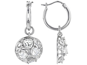 Pre-Owned Moissanite Platineve Interchangeable Earrings 1.92ctw DEW.