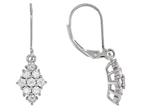 Pre-Owned Moissanite Platineve Earrings 1.08ctw DEW.